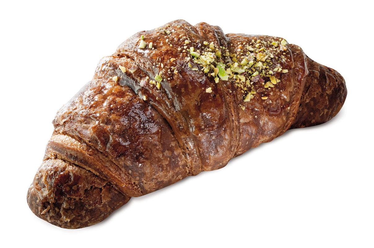 brioche con impasto al cacao farcita al pistacchio